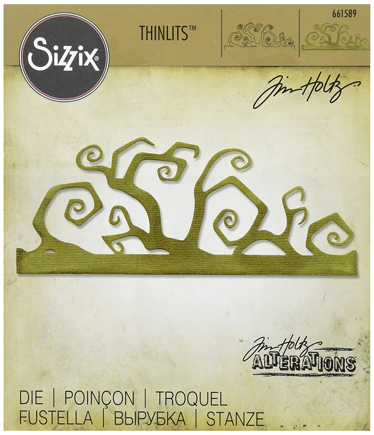 Sizzix 661589/ Thinlits Die Twisted Edge di Tim Holtz