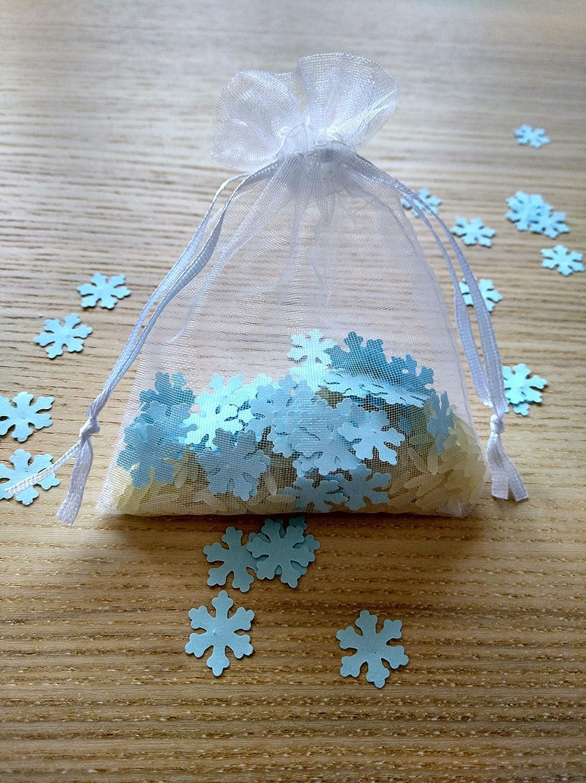 Bolsas de organza con arroz y confeti modelo copo de nieve ...