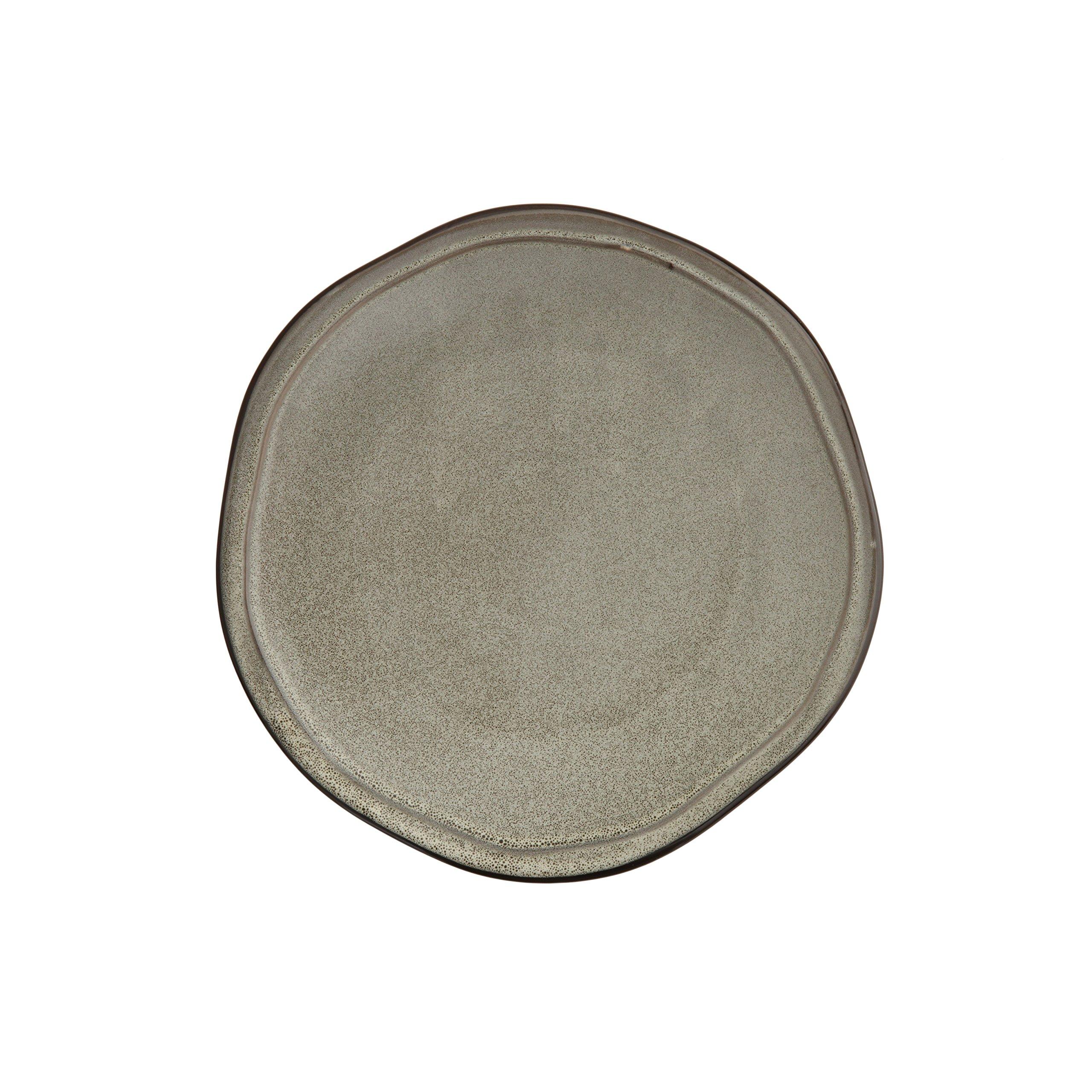 D&V 6 Piece Stōn Porcelain Dinnerware Salad/Dessert Plate Set, 8'', Mist