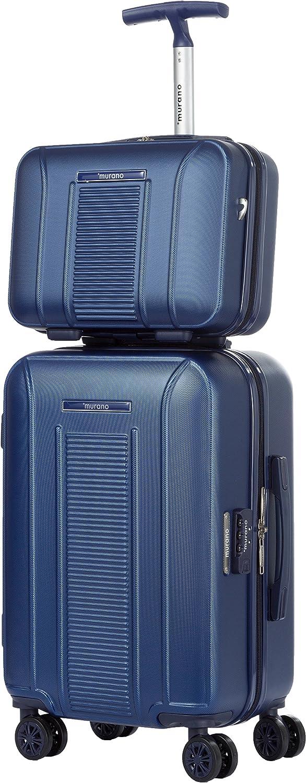 MURANO - Valise Cabine Rigide ABS 55cm à 8 Roues et Un Vanity Case 36cm - PVG