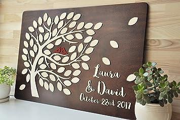 Amazonde Custom Gästebuch Für Hochzeit 3d Holz Hochzeit Ideen