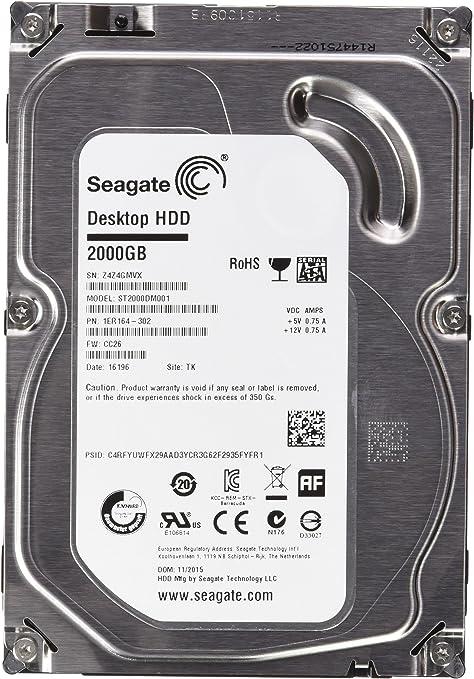 Desktop Hard Drive 7200rpm, 64MB Cache 6Gbps 1TB Seagate Barracuda 7200.14 3.5-inch SATA III