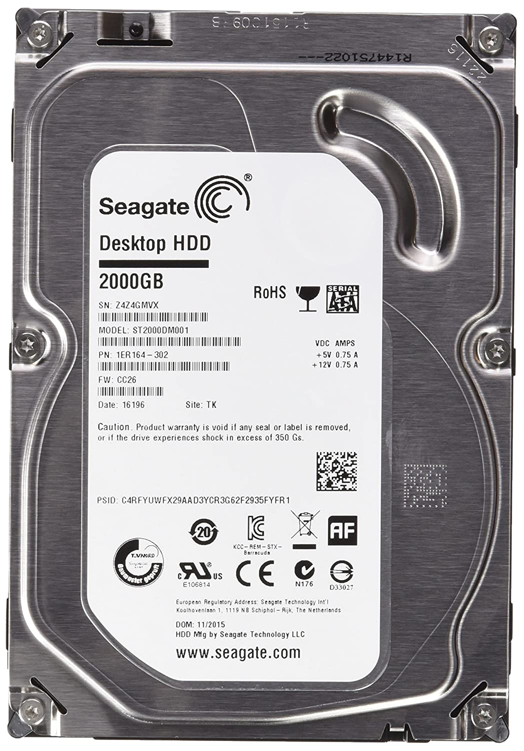 Disco duro interno SATA Seagate Barracuda