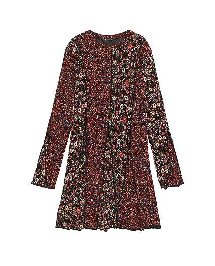 e2d92d6156ad Zara Women Floral Print Patchwork Dress 9173/001 Black at Amazon ...