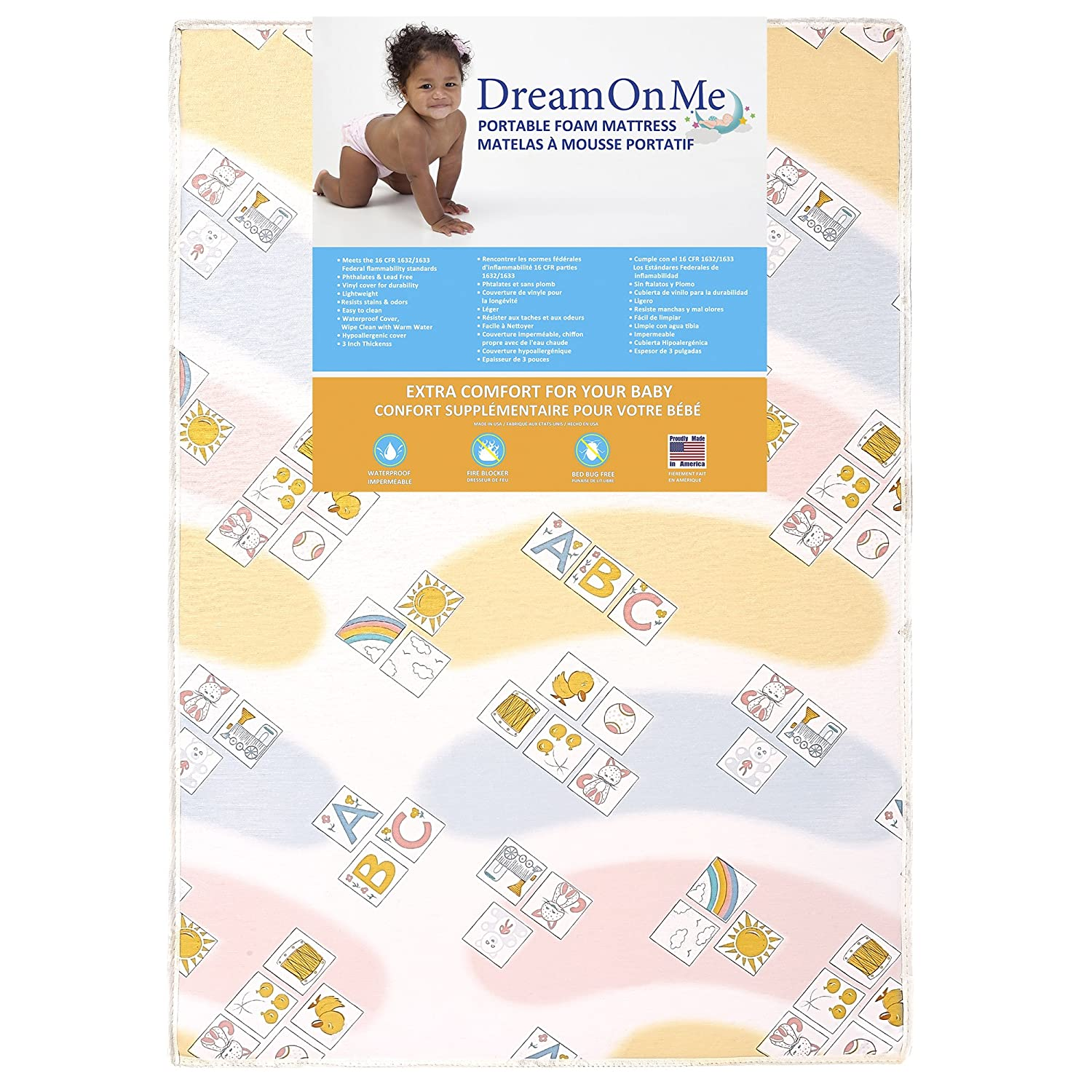 Dream on Me Play Yard Mattress, Happy Space 45