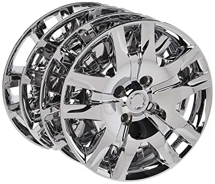 16 inch Hubcaps Best for 2010-2017 Nissan Sentra - (Set of 4) Wheel Covers 16in Hub Caps Chrome Rim Cover - Car Accessories for 16 inch Wheels - Snap ...