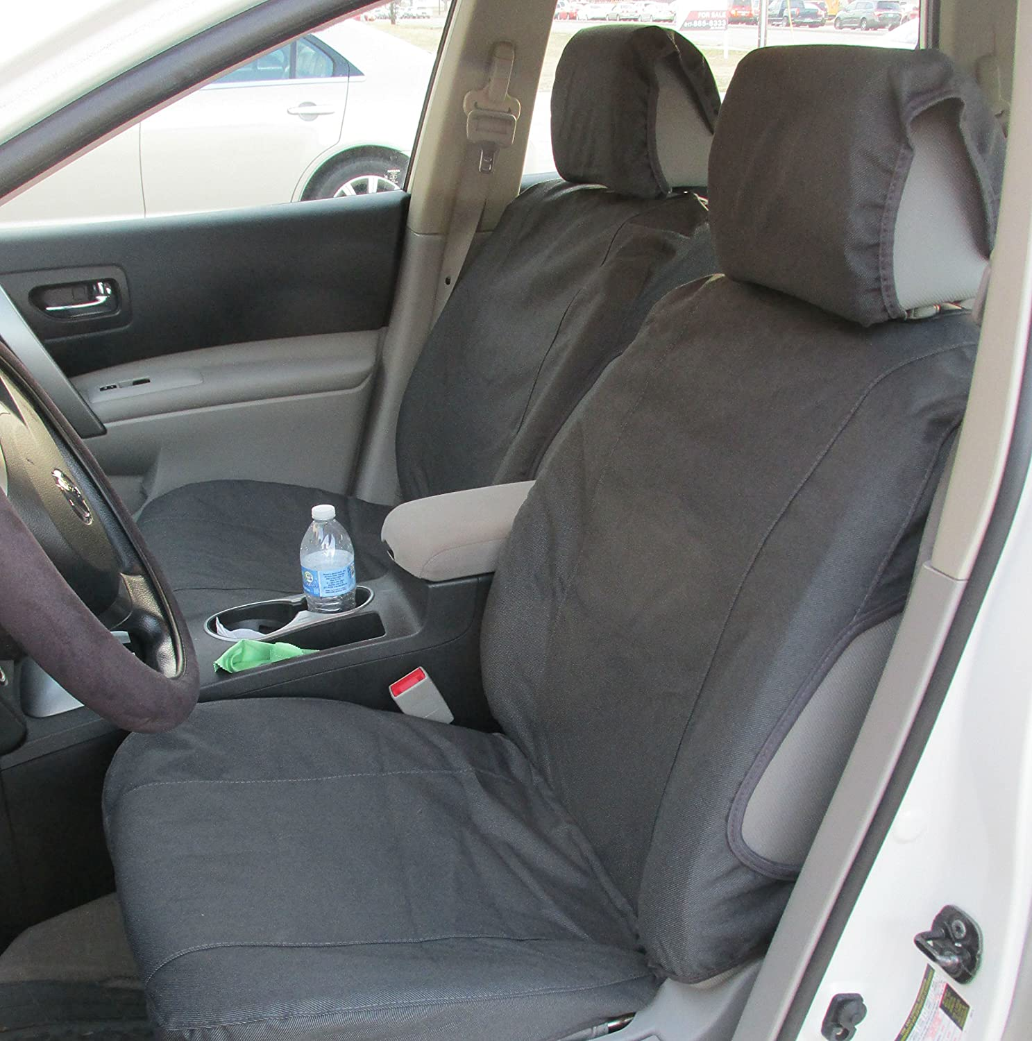 Nissan Rogue Seating >> Durafit Seat Covers Nissan Rogue Low Back Buckets Seat Covers Suitable For Seats With Side Airbags Graphite Automotive Velour
