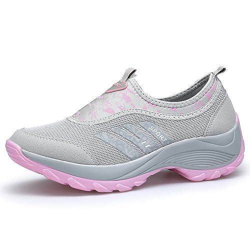DENGBOSN Zapatillas de Deporte Mujer Zapatos para Correr Deportivos Fitness Casual Sneaker: Amazon.es: Zapatos y complementos