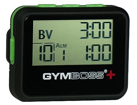 Gymboss Plus – Temporizador y cronómetro, Color Negro/Verde y Negro