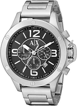 Armani Exchange Mens AX1501 Silver Watch