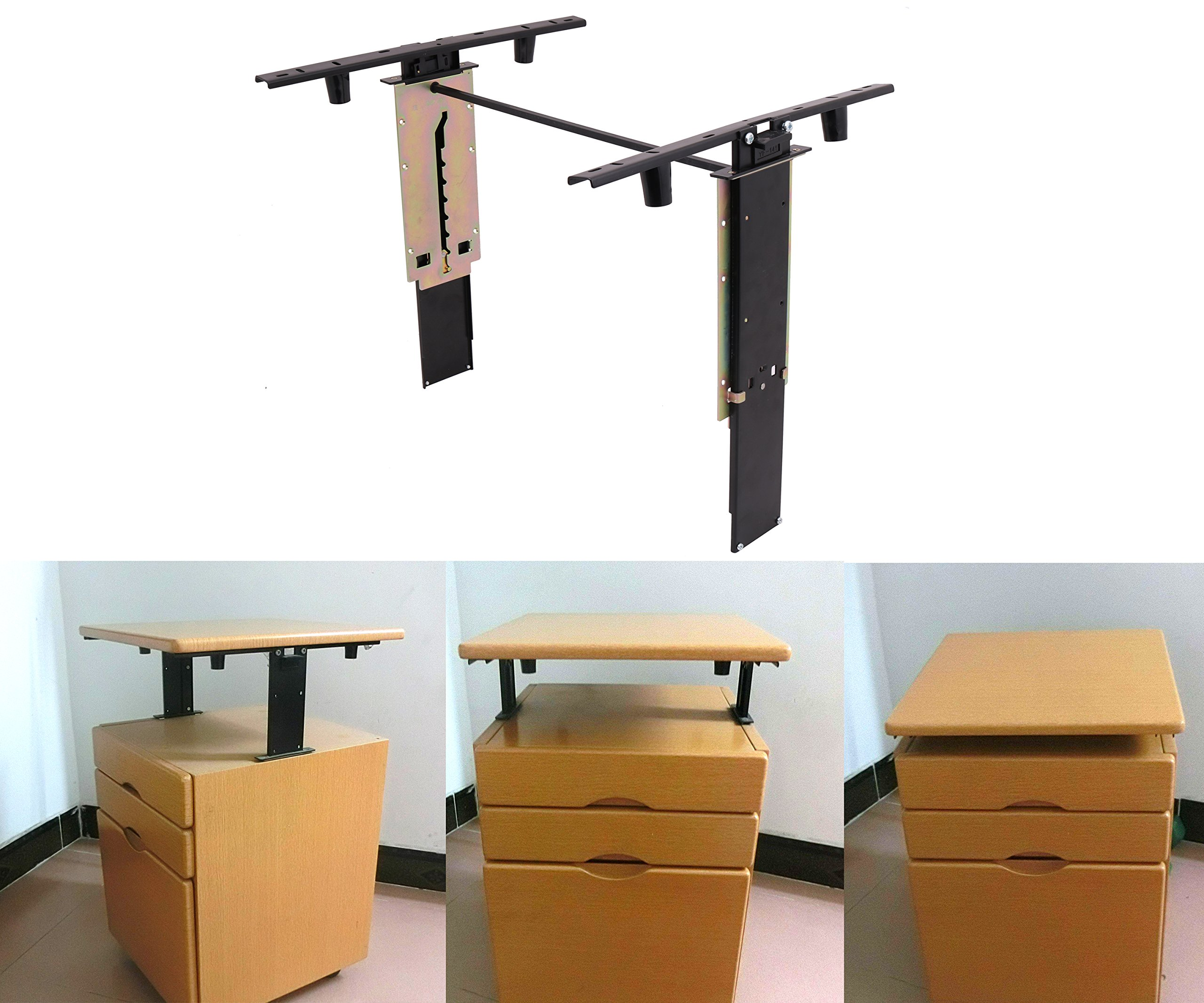 Adjustable Height Stand Up Desk Table Computer Lift Rising Hardware