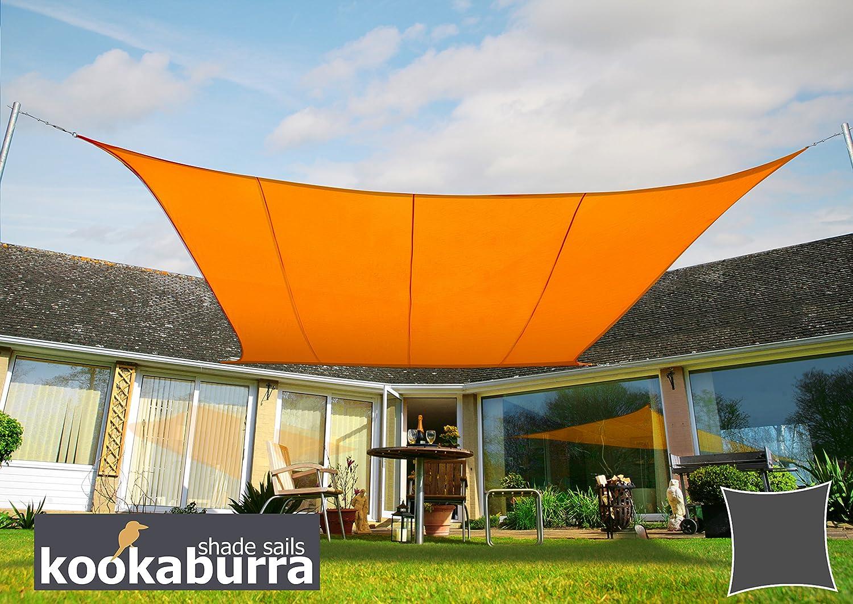 Terrazzo o Balcone Beige Kookaburra Tenda a Vela Quadrata 5,4m per Feste Resistente allAcqua Protezione Anti Raggi 96.5/% UV per Ombreggiare Il Giardino