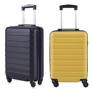 """Toctoto Equipaje De Mano De 2 Piezas Expandible con Bloqueo TSA (20""""41LT 55x35x20cm"""