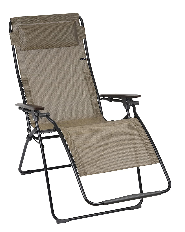Lafuma LFM3095-6896 Relax-Liegestuhl, klappbar und verstellbar, Futura XL, Bronze