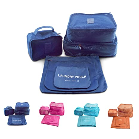 Amazon.com: Viaje Essentials Packing Cubes – 6-PC – Conjunto ...