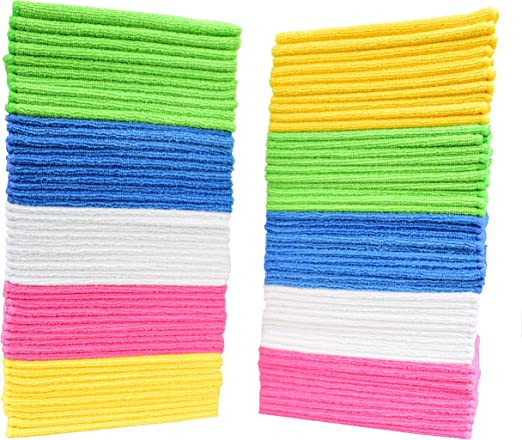 Pack of 50 Towels Microfiber-Cloths Best Microfiber Cleaning Cloths