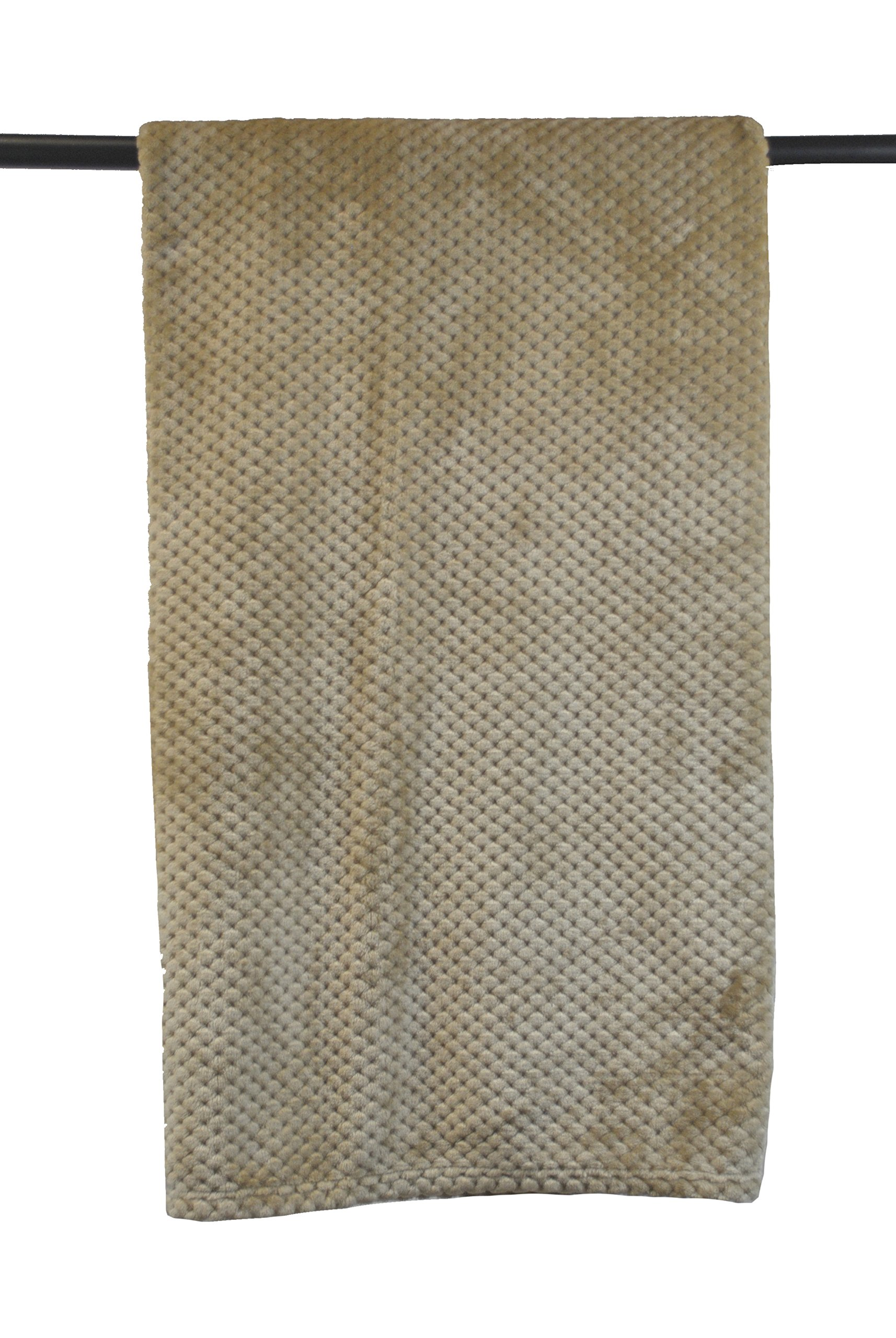 DII Bone Dry Small Pet Throw Blanket, 36x54'', Warm, Soft, Plush for Couch, Car, Trunk, Cage, Kennel, Dog House-Taupe