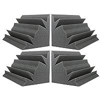 "Acoustic Foam Bass Trap Studio Corner Wall 12"" X 7"" X 7"" (4 PACK)"