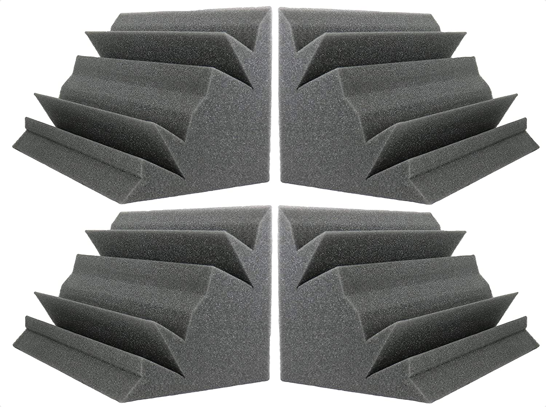 Acoustic Foam Bass Trap Studio Corner Wall 12 X 7 X 7 (4 PACK) Foamily 4334435487