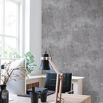 betontapete vliestapete beton optik grau industrial loft stein wand 68653 schoner wohnen