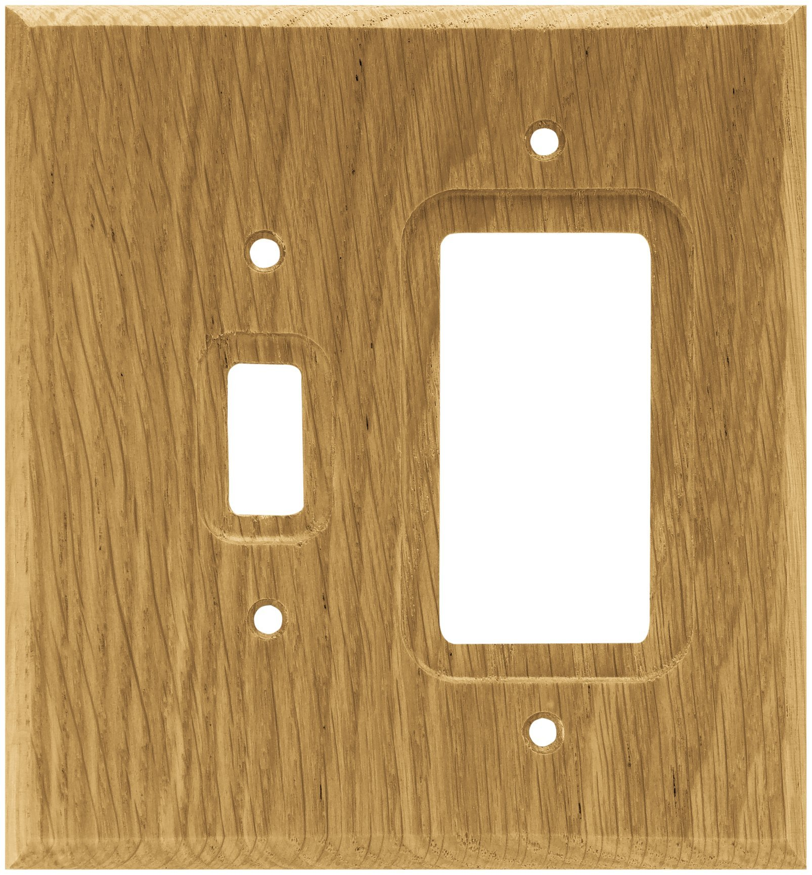 Brainerd 64679 Wood Square Single Toggle Switch/Decorator Wall Plate / Switch Plate / Cover, Medium Oak