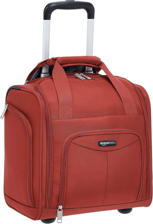AmazonBasics – Maleta que cabe bajo el asiento de un avión, Rojo