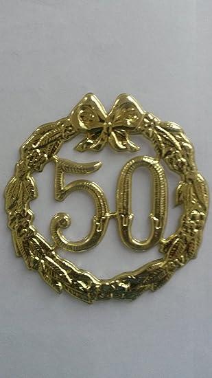 10 Stück Jubileum 50 Schild Goldene Hochzeit Vom Sachsen