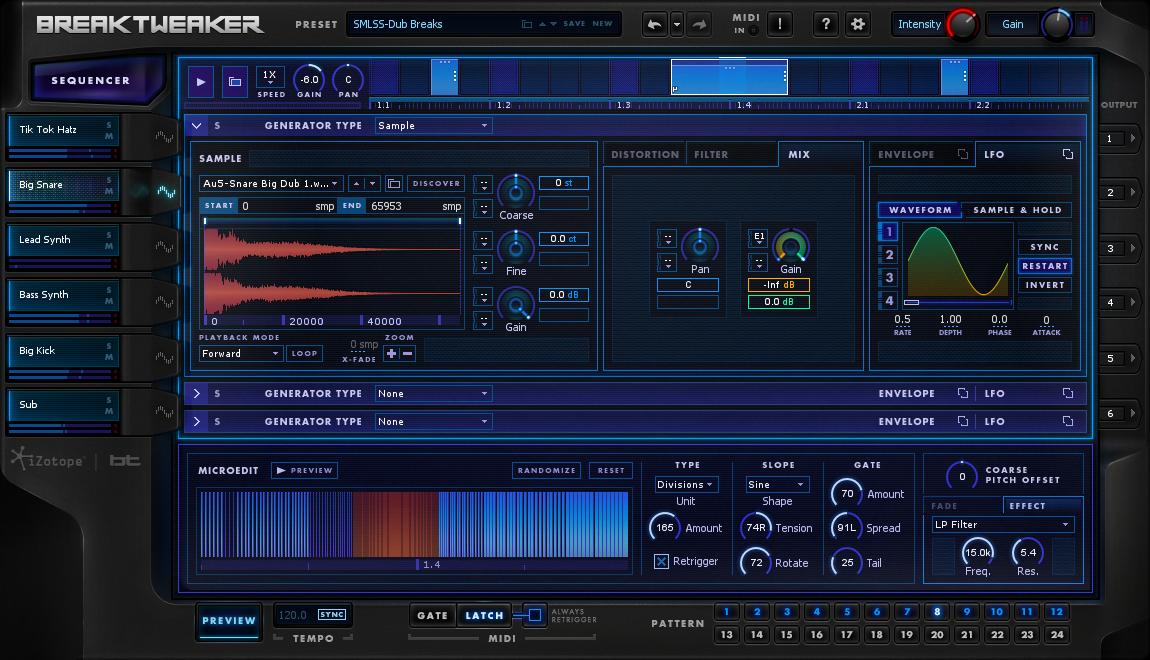 BreakTweaker: Virtual Instrument