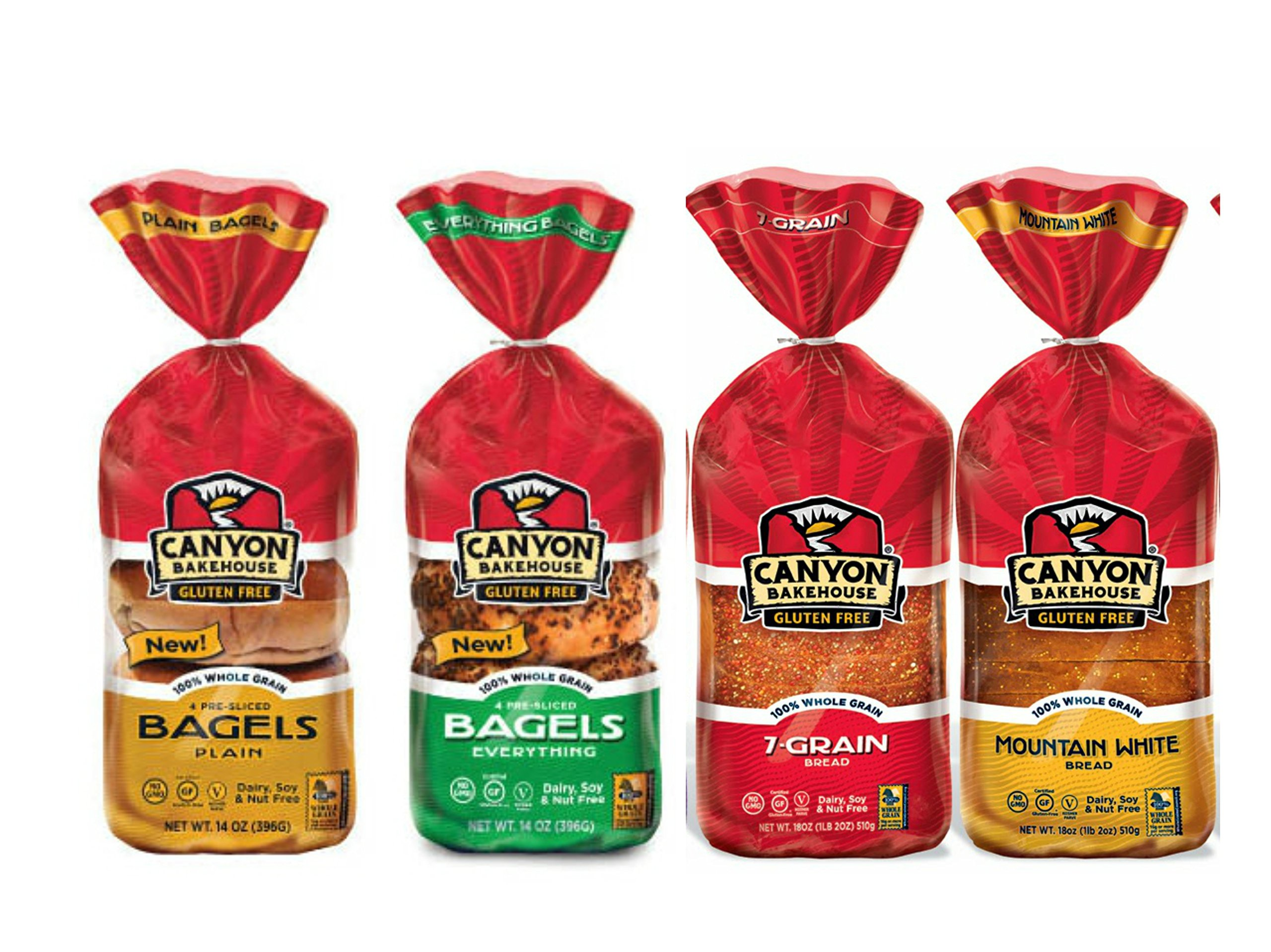 Canyon Bakehouse Gluten Free Bread and Bagel Variety Pack by Canyon Bakehouse