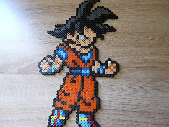 Amazon com: Sprite Goku - Dragon ball - Hama Beads • Pixel