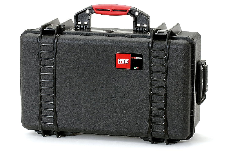 HPRC 2550WE Hardcase mit Rollen (TX01 Material, 29 Liter Volumen, ohne Inhalt) schwarz