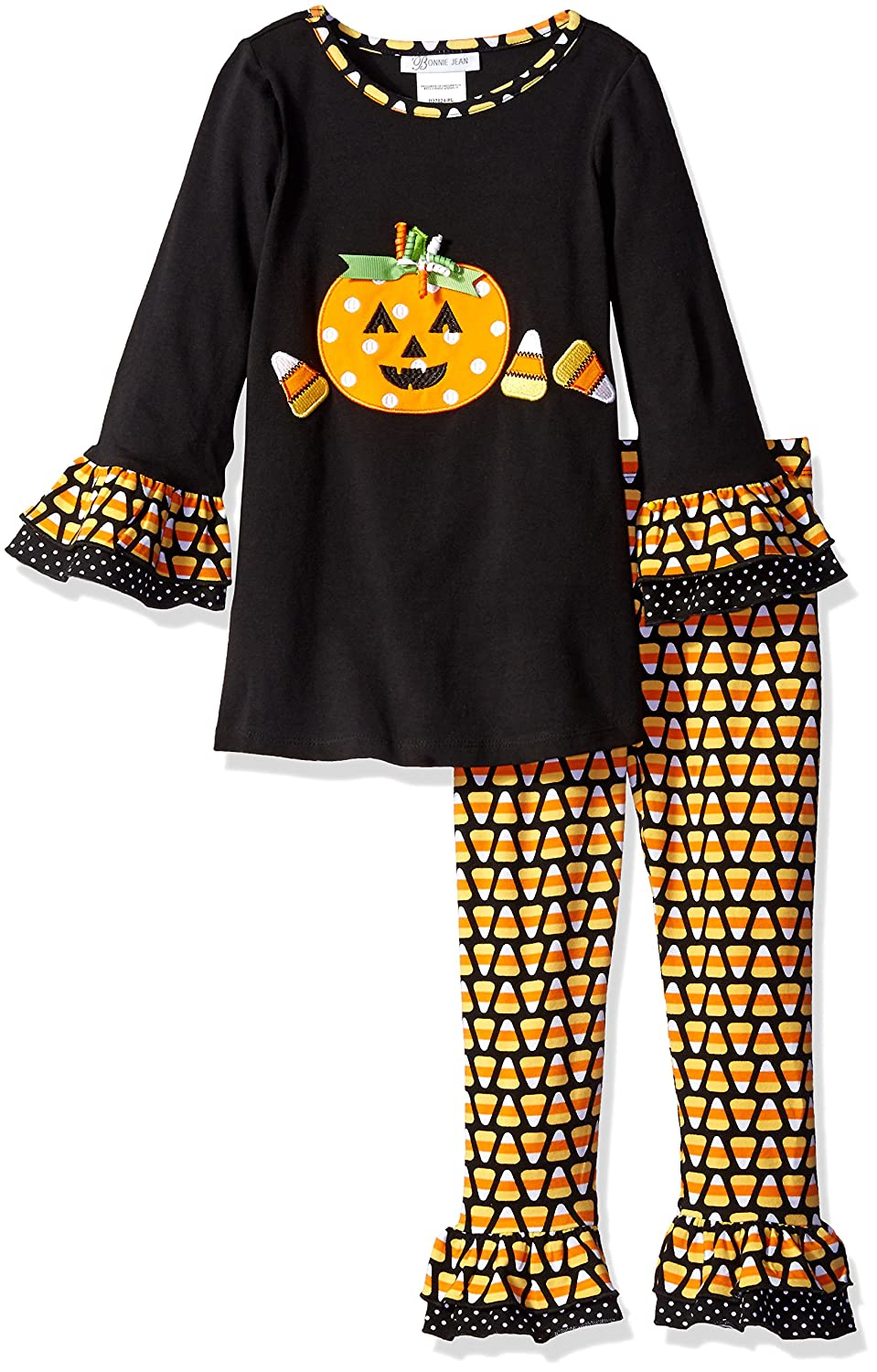 e5c55f9892567 Bonnie Jean Little Girls' Candy Corn Appliqued Halloween Legging Set,  Black, 6: Amazon.in: Clothing & Accessories