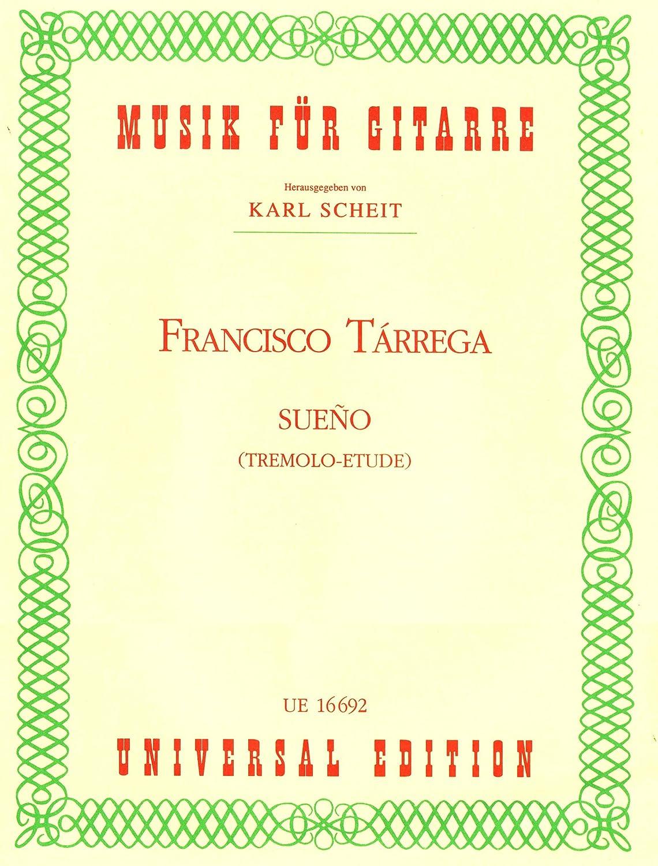 TARREGA - Sueño (Tremolo) para Guitarra (Scheit): TARREGA: Amazon ...