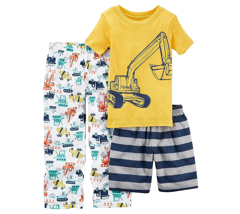 Carters Boys 10-14 3-Pc.Construction Pajama Set