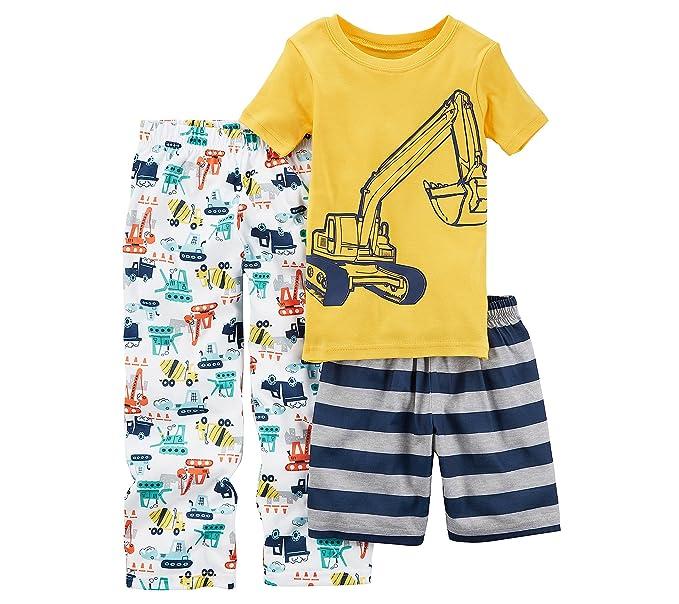 71a2e3a14 Amazon.com  Carter s Boys  10-14 3-Pc.Construction Pajama Set  Clothing