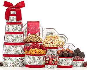 Season's Greetings Holiday Gift Tower by Wine Country Gift Baskets