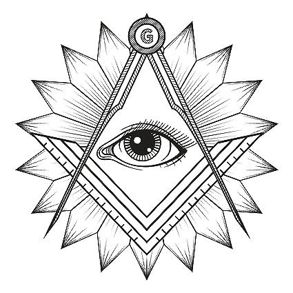 Amazon Com Pretty Eye Of Wisdom In Geometric Flower Vinyl Decal