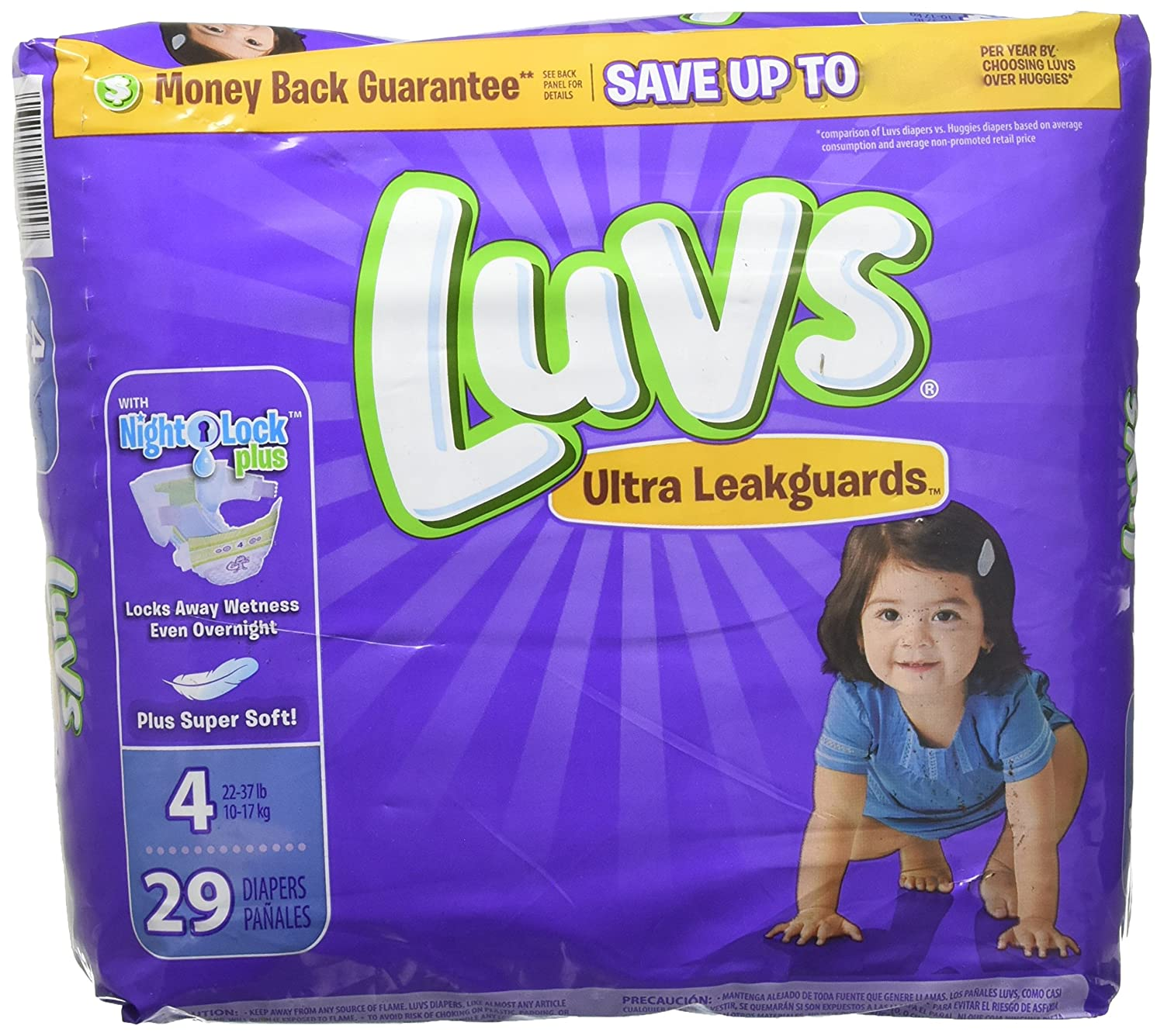 Amazon.com: Luvs with Ultra Leakguards, Size 4 Diapers, 29 ea: Health & Personal Care