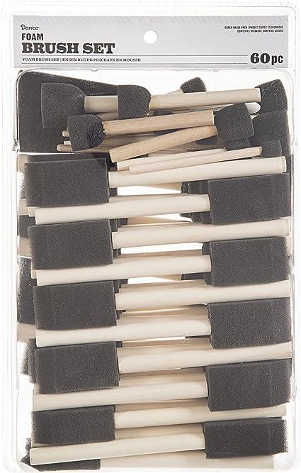 Darice 97148 1-Inch Foam Brush Value Pack 50-Piece