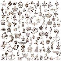 Juanya 100 unidades DIY accesorios mezclados de plata