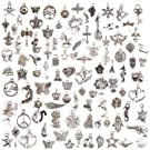 BestMall Snner 100pcs Mixed Silver-Plated Charms for Necklace/Bracelet/Pendants/Jewellery/DIY