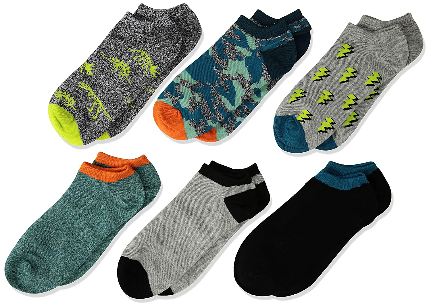 Stride Rite baby-boys 6-pack No Show Socks Casual Sock