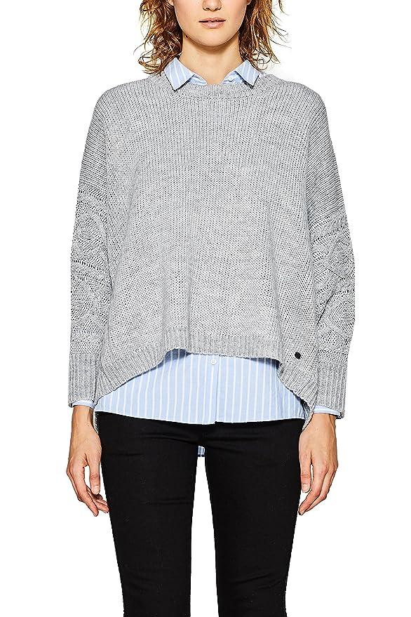 Womens 107cc1i044 Jumper, Grey (Light Grey 040), Medium EDC by Esprit