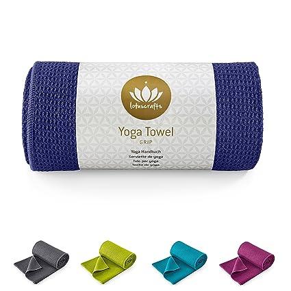 Lotuscrafts Toalla Yoga Antideslizante Grip - Antideslizante y de Secado Rápido - Manta Yoga Antideslizante - Toalla Microfibra Deporte - Toalla de ...