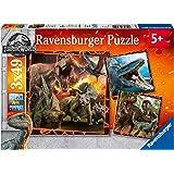 Ravensburger Jurassic World - Fallen Kingdom, 3x 49pc Jigsaw Puzzles