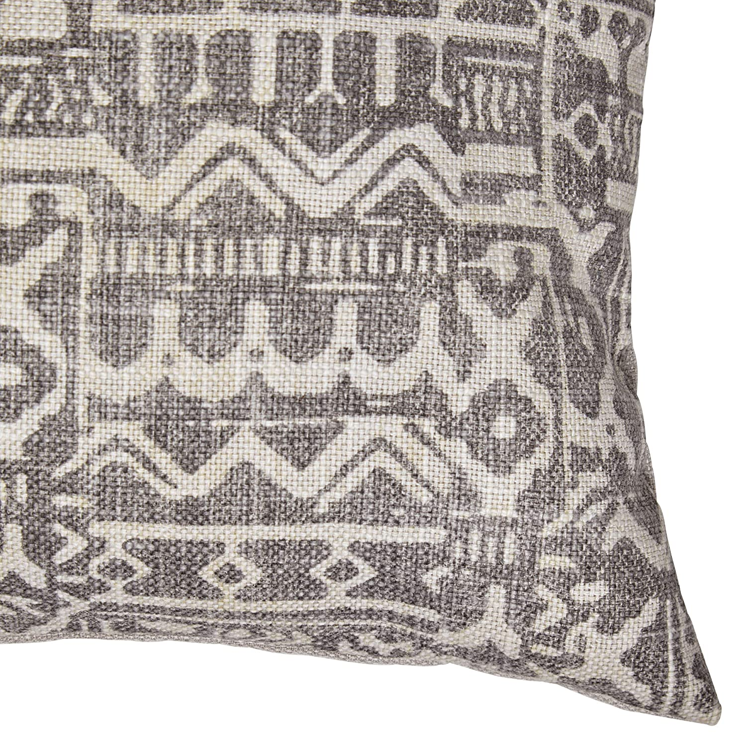 Stone Beam Casual Global Throw Pillow – 12 x 24 Inch, Charcoal