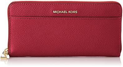 dcbdfc6383c3 Amazon.com: Michael Kors Mercer Ladies Large Leather Wallet ...