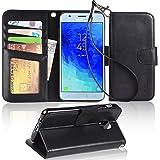 Galaxy J3 2018 case, J3 V 2018/J3 Achieve/Amp Prime 3 2018 Case, Arae [Stand Feature] PU Leather Wallet case with Wrist…