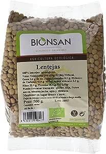 Bionsan Lenteja en grano Ecológica   6 Bolsas de 500 gr   Total: 3000 gr