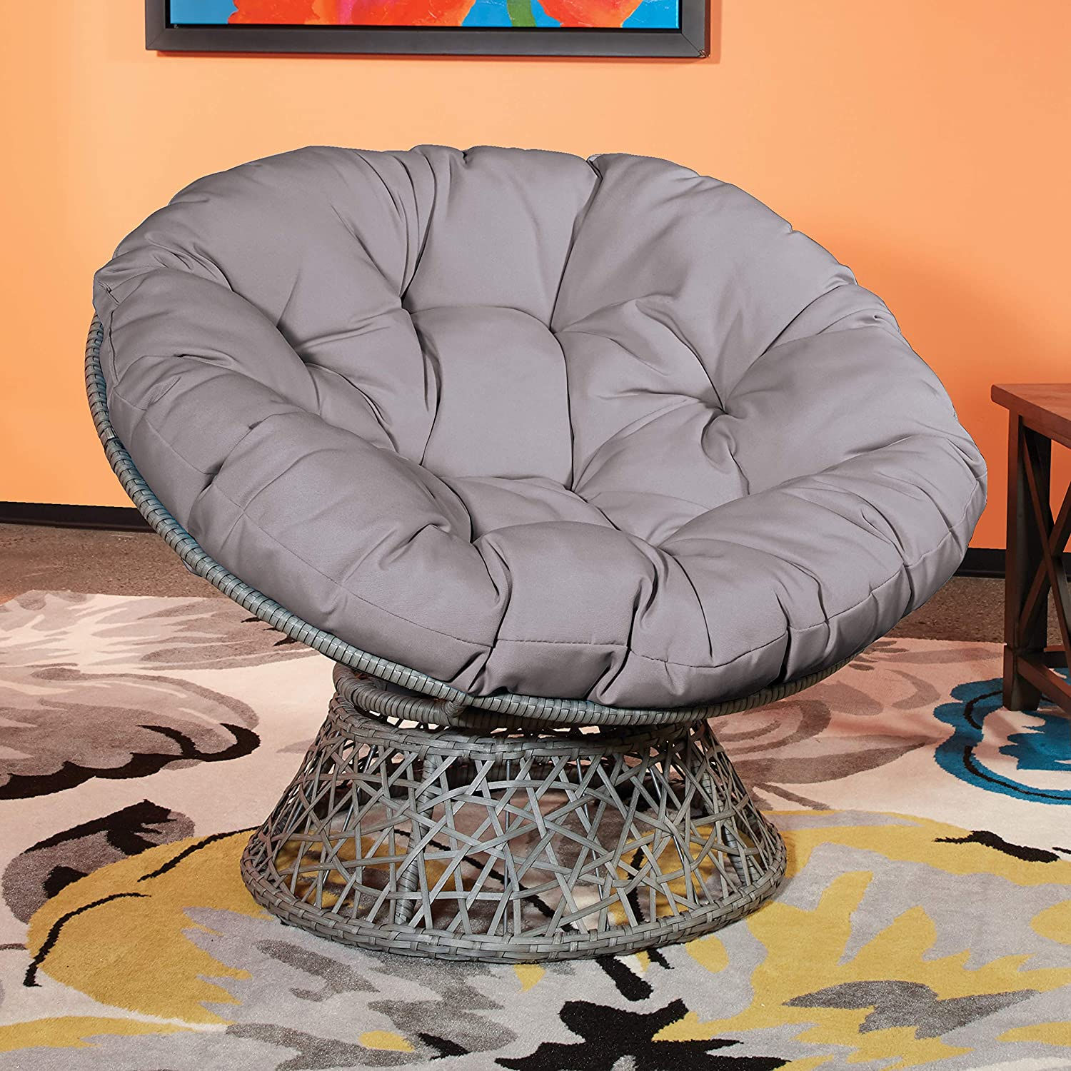 Papasan Comfy Reading Chair For Small Space